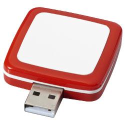 Otočné Obdelníkové USB červená