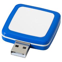 Otočné Obdelníkové USB modrá