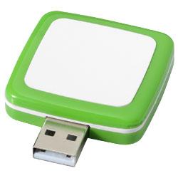 Otočné Obdelníkové USB zelená