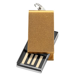 Mini USB paměť zlatá