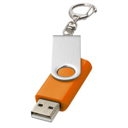Rotační USB s klíčenkou oranžová